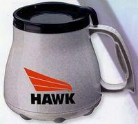 Insulated plastic large bottom mugs